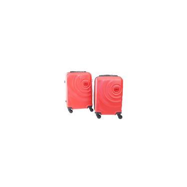 Imagem de Conjunto de 2 Malas de Viagem abs c/ Roda 360 Vermelho P pp Yin's YS21061V