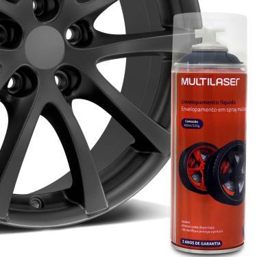 Spray Envelopamento Liquido Grafite 400ml Multilaser Au429 Plástico Metal Lataria Rodas