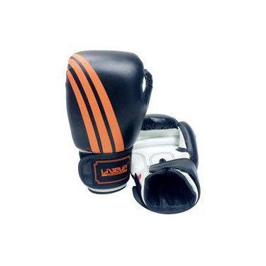 4a0d29258 Luva De Boxe Liveup Sports Ls3086e 16Oz Preto Branco Laranja