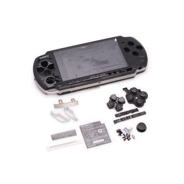 Carcaça Completa P/ Sony Psp Slim 3000 Cor Preta