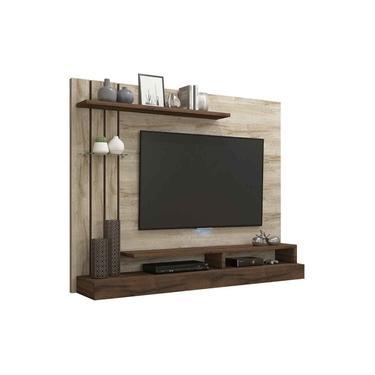 Painel Para Tv Ate 50 Polegadas Valencia Rustico/Cafe - Permobili
