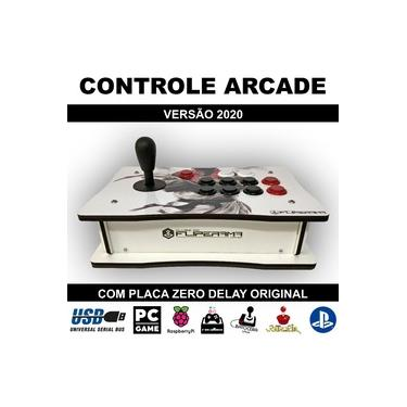 Controle Arcade para PC, PS3, PS4, Pi3, Fightcade, Steam
