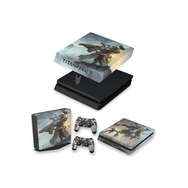 Capa Anti Poeira e Skin para PS4 Slim - Titanfall 2 #A