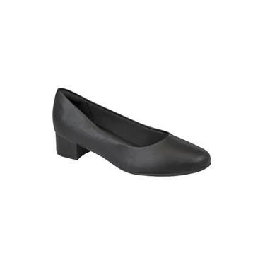 Sapato Feminino Piccadilly Salto Baixo Conforto 140110 Preto