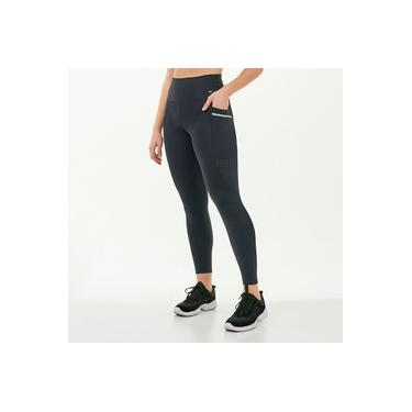 Calça Legging Alto Giro Hyper Com Laser Lateral Preto 2111347