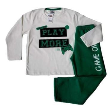 kit infantil lote de inverno para revenda 5 conjuntos frio meninos masculino blusa de manga longa comprida e calça TAMANHO:4