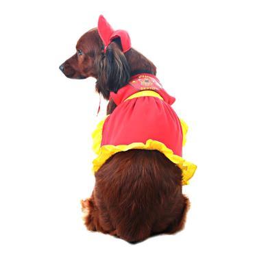 Vestido para Cachorros Bombeira M