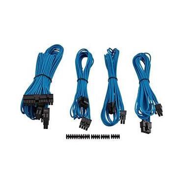Cabo para fonte corsair sleeved cp-8920147 azul