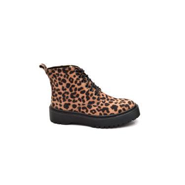 Imagem de Bota Onça Feminina Tratorada Shoe Salto Médio Casual  feminino