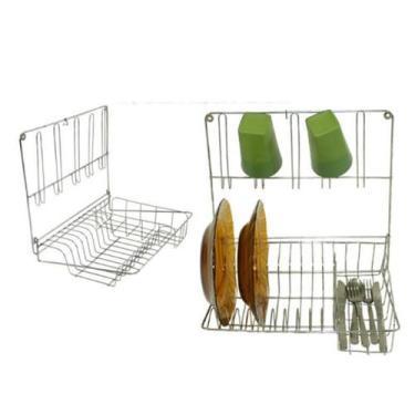 Imagem de Escorredor de pratos de parede 10 pratos 5 copos e talheres - Csk