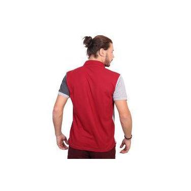 Camisa Polo Golf Club Trios Vinho e Chumbo 2d02d5a1e0fe2