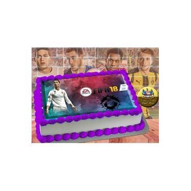 PS4 XBOX GAME - Papel De Arroz Comestível Para Bolo FIFA 16 E 18 A4 20x30cm Mod.05