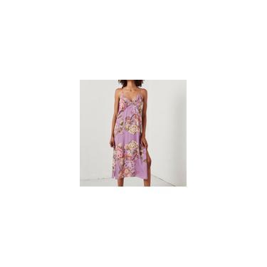 Vestido feminino de verão moda floral estampa floral fresco
