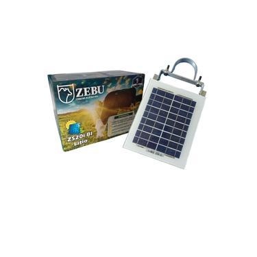 Imagem de Eletrificador de cerca elétrica rural solar Zebu com bateria