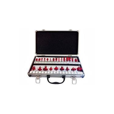 Imagem de Pontas para tupia jogo com 24 peças com maleta lee tools