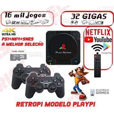 Video Game Retrô 16.000 Jogos + 32gb 2 Controles