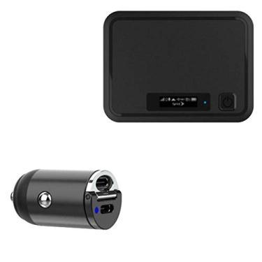 Franklin Carregador de carro sem fio R850 4G LTE Hotspot móvel, BoxWave [Mini carregador de carro PD duplo] Rápido, 2 carregadores USB para Franklin Wireless R850 4G LTE hotspot móvel – Preto