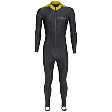 Roupa de mergulho NeoSport, BLACK/YELLOW, X-Small