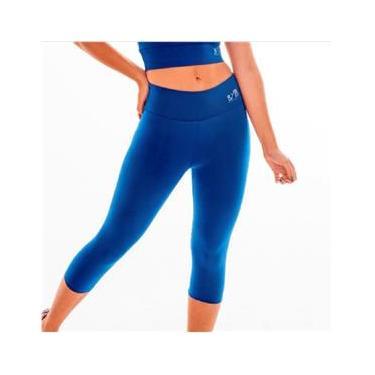Imagem de Calça legging P corsário fitness academia BYG Ring Azul