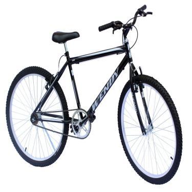 Bicicleta Aro 26 Mtb Wendy Sem Marchas Cor Preto Adesivo Prata