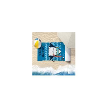 Imagem de Toalha De Praia 60Cm X 1,10M Infantil Anti Areia Shark - Bene Casa