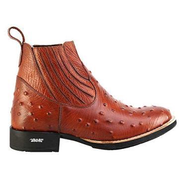 Bota Western Avestruz Hb Agabe Boots 419.001a - Os Rust - Solado de Borracha Bota Western Avestruz Hb Agabe Boots 419.001a - Os Rust - Numero:44