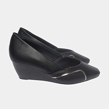 Sapato Malu Super Comfort Andrielle Feminino Preto 37