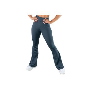 Calça Feminina Flare Estampada Pantalona Cintura Alta Mvb Modas