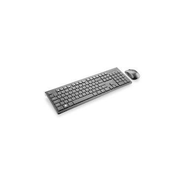 Teclado e Mouse Sem Fio Multilaser Slim 2.4Ghz ABNT 2 Preto - TC212