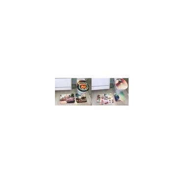 Imagem de KIt com 2 Jogos de Tapete para Banheiro Decore Cada Jogo contém 3 peças