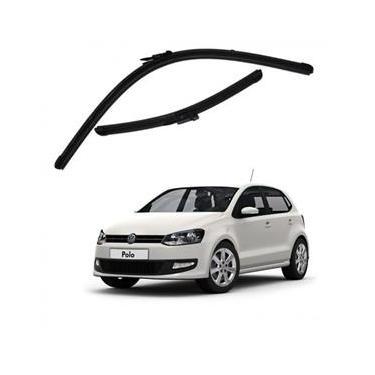 Kit Palhetas Limpador de Parabrisa Dianteiro VW Volkswagen Polo Ano 2013 - Atual