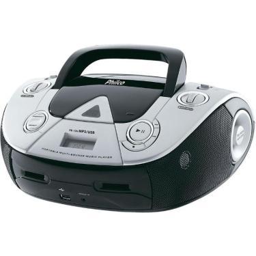Som Portátil Philco PB126, 4W RMS, MP3, USB - Preto