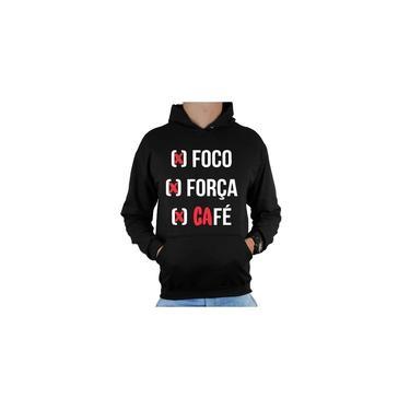 Blusa De Frio Casaco Moletom Agasalho Canguru Masculino - Foco, Força, Café