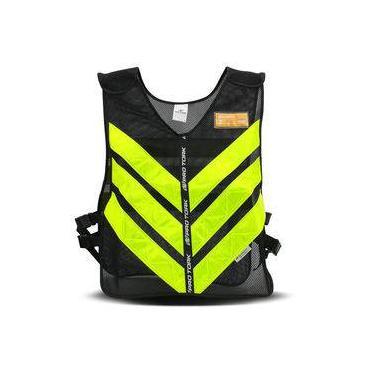 Colete Refletivo Pro Tork One Motoboy Moto Táxi Preto Com Faixa Amarela