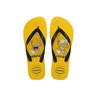 Chinelo Havaianas Simpsons Adulto - 7010742 Amarelo Ouro