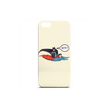 Capa Para Iphone 6 De Plástico - Super Man E Batman Wtf