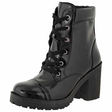 62347f672 Bota Cano Curto Verniz DR Shoes Preto feminino