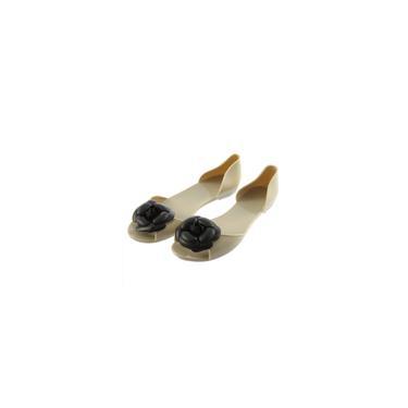 Imagem de Sapatos rasos incrustados tamanho 36 branco