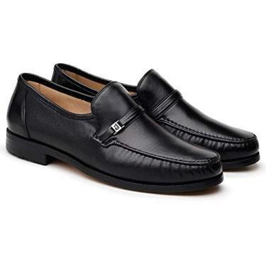 Sapato Social Couro Jacometti 077 Masculino Solado Antiderrapante Preto 42