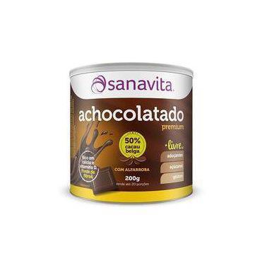 Achocolatado Alfarroba Sanavita 250g Cacau Belga Sem Gluten