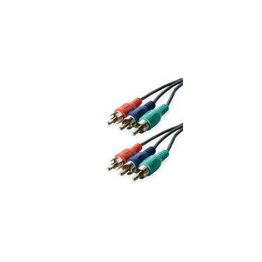 Cabo 3+3 Rca Video Componente Gold 1.8 Mts