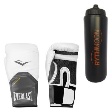 Kit Luva Boxe Elite Pro Style Everlast Branco 12oz + Squeeze Automático 1lt d73e2278857de