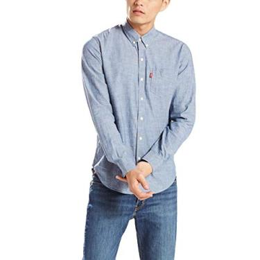 9b899f989222e Camisa Levis Masculino Classic One Pocket Azul Claro