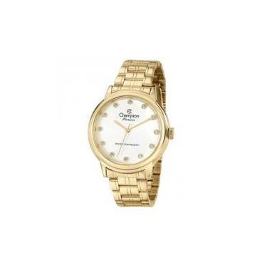 795d127341f Relógio Champion Feminino Ref  Cn29874h Casual Dourado