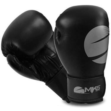 d5565ed5e Luva Boxe Mks Combat Champions Fit Cinza 14 Oz