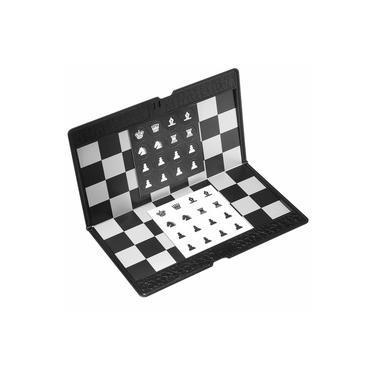 2018 Dobrável MINI Conjunto de Xadrez Magnético Portátil Carteira Bolso Xadrez Jogos de tabuleiro NOVO