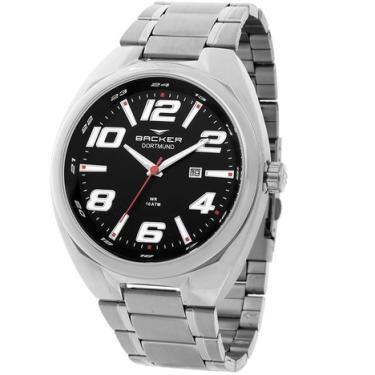 1f914a1b1e9 Relógio Masculino Backer Analógico 6491253M - Prata