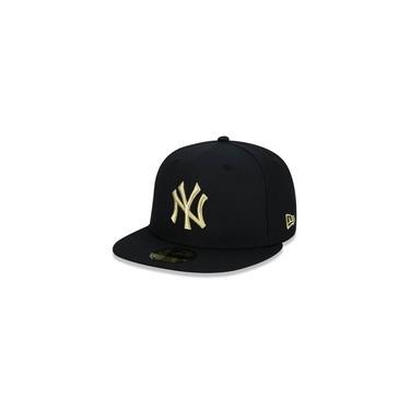 BONE 59FIFTY ABA RETA FECHADO MLB NEW YORK YANKEES ABA RETA PRETO NEW ERA