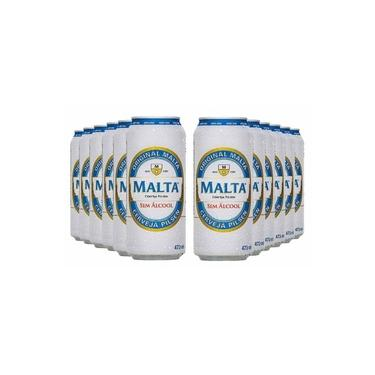 Cerveja sem álcool Pilsen - Malta - Lata 473ml - Nacional - 12 unidades