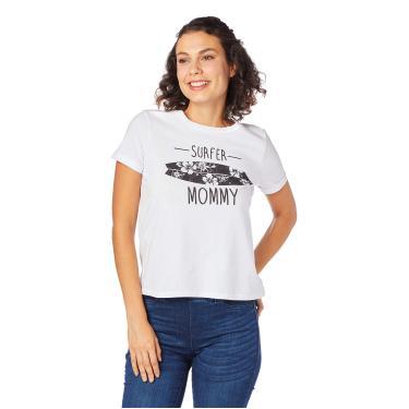 Camiseta Estampada Malha, Malwee, Feminino, Branco, P